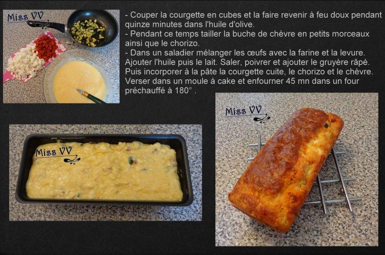 CAKE CHEVRE CHORIZO ( POUR LES ENFANTS )
