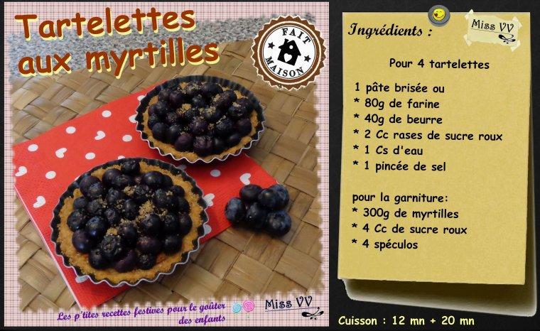 TARTELETTES AUX MYRTILLES  et TARTE AVEC CREME ( POUR LES ENFANTS )
