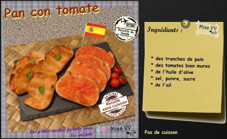 PAN CON TOMATE ( POUR LES ENFANTS )