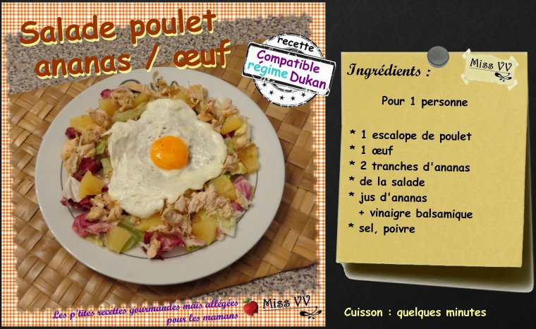 SALADE POULET / ANANAS / OEUF ( POUR LES MAMANS )