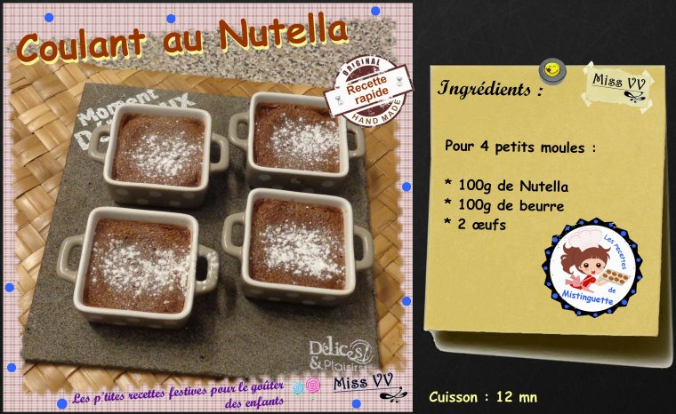 COULANT AU NUTELLA  ( POUR LES ENFANTS )