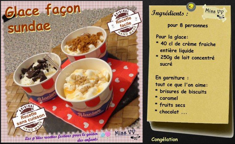 GLACE FACON SUNDAE sans sorbetière ( POUR LES ENFANTS )
