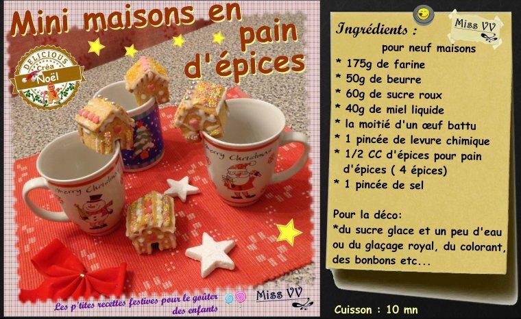 MINI MAISONS EN PAIN D'EPICES ( POUR LES ENFANTS )