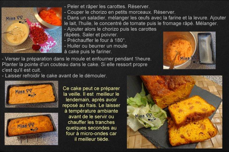 CAKE AU CHORIZO DOUX ET CAROTTES ( POUR LES ENFANTS)