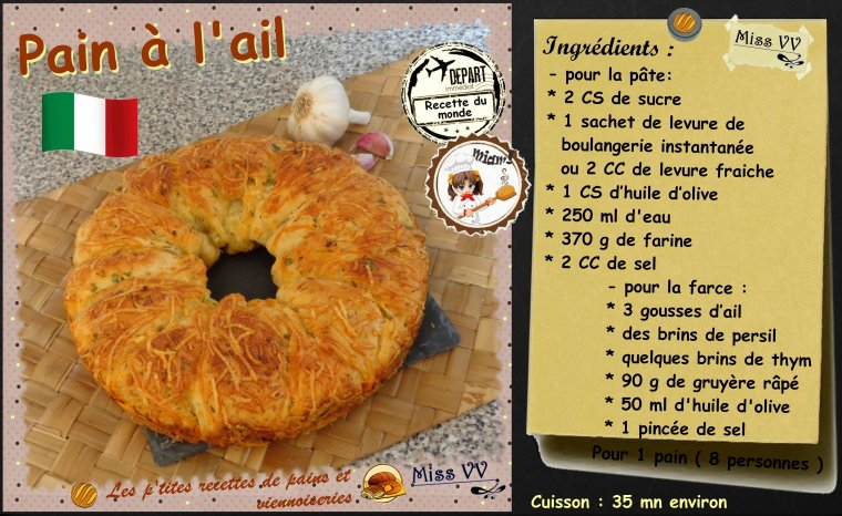PAIN à L'AIL ( pains et viennoiseries )