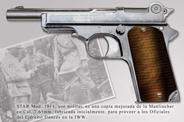 PISTOLET STAR MODELE 1914  ( FRANCAISE )