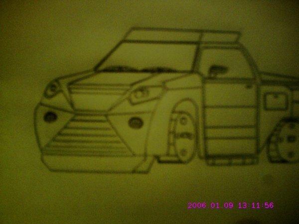 voiture dessiner par hamour ahcene