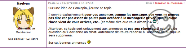 --Topic Populaire Discussion Générale--