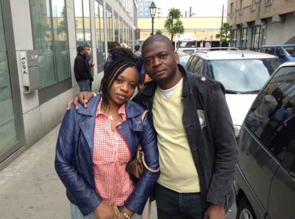 Guy Mukolonga et moi a la gare de Midi Bxl