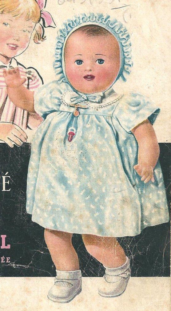 """poupée RAYNAL  """"CATHERINE"""" en peau magique   1951"""