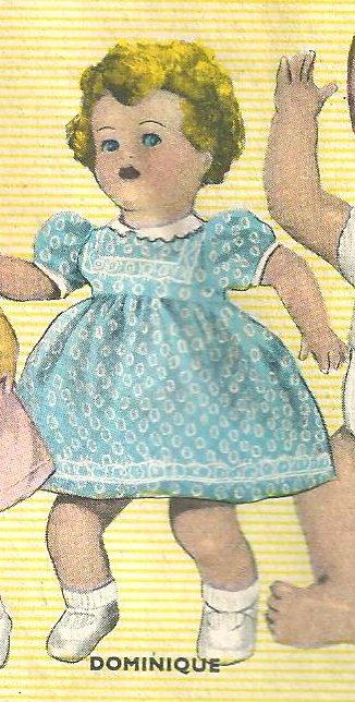 """poupée RAYNAL """"DOMINIQUE""""  1954"""