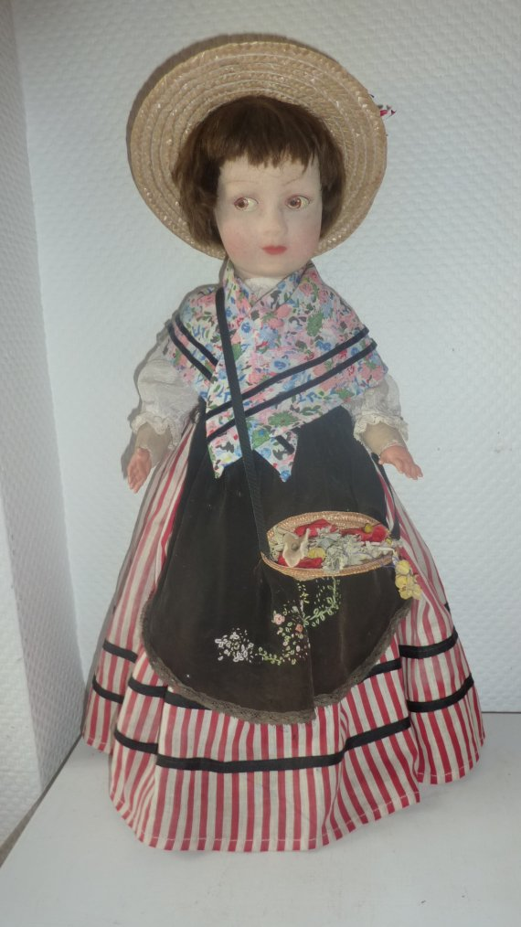 """poupée feutre   """"Nice""""   1937"""