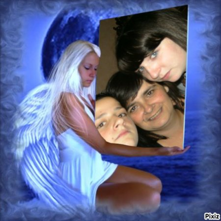 Mon   fils dylan  moi  et ma fille marina
