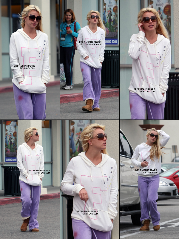 . Britney se rendait dans un magasin de location video à Los Angeles, le 27 mai. .