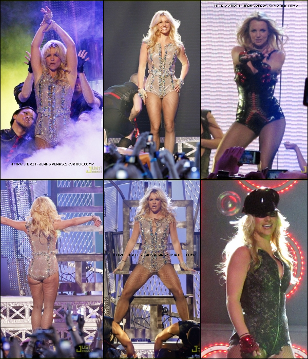 """. Nouveau tweet de Britney : """"Je quitte le Castro District. Je voulais en voir plus mais je pouvais à peine sortir de ma voiture !!! Je vous aime tous tellement -Brit. PS - Même mon père a passé un super moment."""" . Découvre les photos de Brit lors de son concert dans l'émission Good Morning America ! . + Une vidéo de sa performance sur Till The World Ends ! ."""