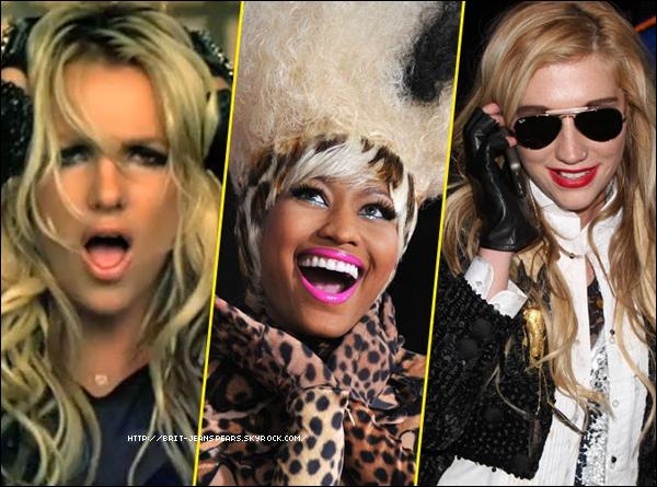 """. Ecoutez la version finale du remix de TTWE feat Nicki Minaj et Ke$ha ! . Lors d'une interview pour la radio Z100, Ke$ha parle la chanson TTWE : """"J'ai écrit les paroles. J'adore cette chanson. C'est très gratifiant pour moi en tant que compositeur, que Britney ait enregistré une de mes chansons. Le son est incroyable et la vidéo est puissante."""" ."""