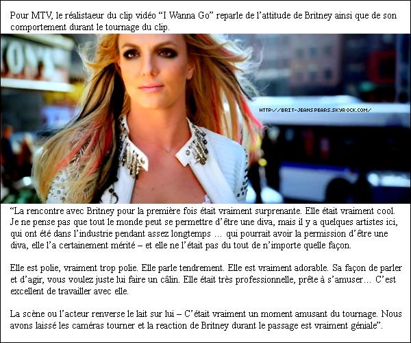 """. Nouvelle annonce de Billboard : Avec son 27ème titre entrant dans le classement des chansons pop, Britney Spears dépasse Madonna et se retrouve nez à nez avec Mariah Carey (qui en a 29) dans le classement du plus grand nombre de classements de tous les temps. . Nouveaux tweets de Britney, accompagné de deux photos : """"Je viens de me faire maquiller et coiffer, à bientôt !"""" et """"Tellement touchée de rencontrer la marine HMLA-169 Vipers qui a crée cette magnifique vidéo de HIAM – Brit """". ."""