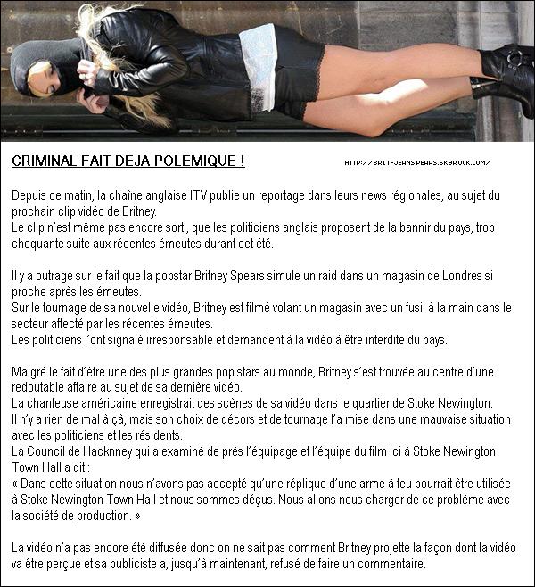 """. Il semblerait que la setlist du Femme Fatale Tour changera d'ici peu. Les chansons qui devraient être ajoutées sont Criminal, Do Somethin', Gasoline et Inside Out. . Nouveau tweet de Britney : """"Saint Petersbourg – vous avez tous été incroyable ce soir. Super façon de lancer la tournée Européenne du Femme Fatale Tour ! -Britney"""" . TF1 a confirmé l'interview de Britney au JT de 20h pour la promotion de la tournée et de l'album Femme Fatale. Un reportage et une interview enregistrée à Londres sont au programme, mais la date de diffusion n'a pas encore été communiquée. . Découvre une performance de la chanteuse country Taylor Swift sur la chanson Lucky ! ."""