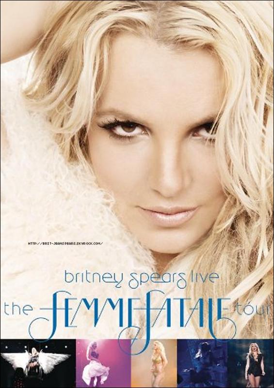 . Découvre ou (re)découvre la pochette officielle du DVD et du blu-ray du Femme Fatale Tour, qui vient d'être confirmée ! .