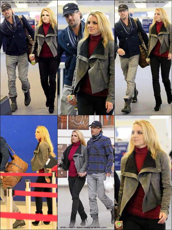 . Britney et Jason ont été vus à l'aéroport JFK à New York, le 30 décembre. .