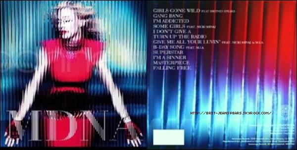 """. Nouveau message de Britney sur Facebook : """"Madonna – superbe performance la nuit dernière ! Je t'aime."""" ."""