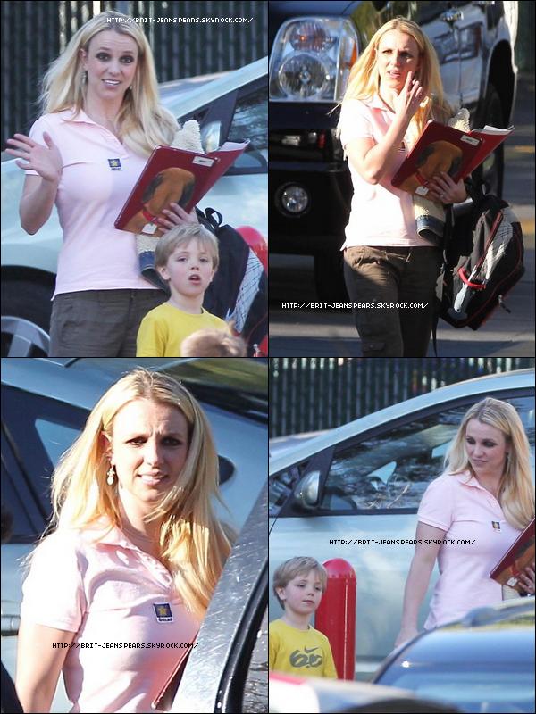 . Britney accompagne ses fils à la gymnastique à Calabasas, le 09 février. .