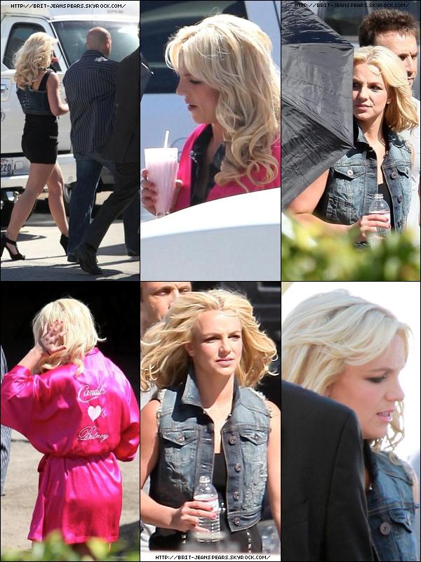 . Britney tournait une pub pour la marque Candie's à Los Angeles, le 11 mai. .