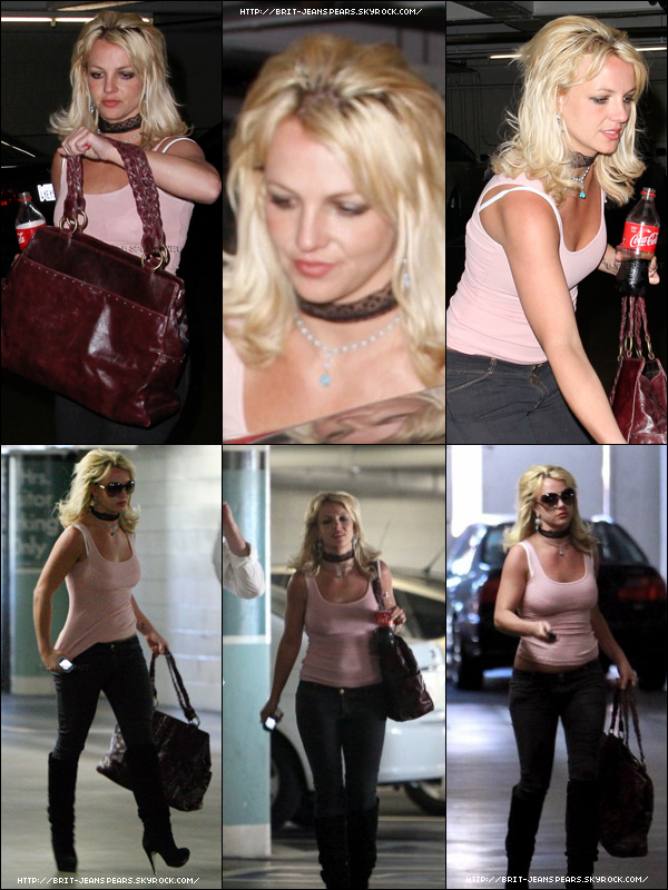 . Britney se rendait au bureau de son avocat à Los Angeles, le 28 avril. .