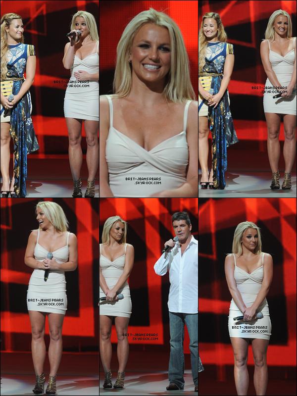 . Britney & cie présentaient X-Factor à la conférence de presse de la FOX, le 14 mai. .