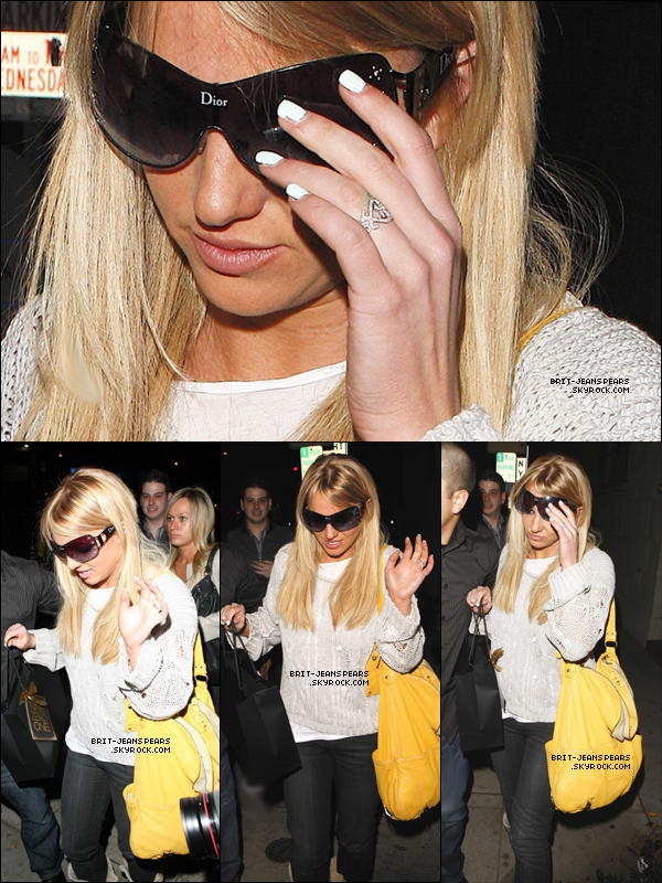 . Britney quittait le salon de coiffure Nine Zero One à West Hollywood, le 26 février. .