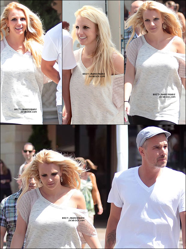 . Britney et Jason faisaient du shopping à The Grove à Los Angeles, le 28 août. .