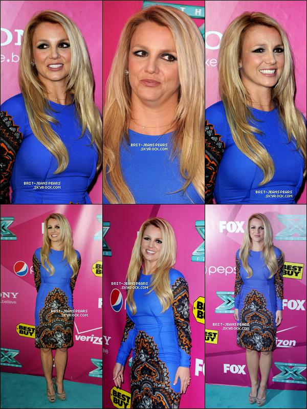 . Britney arrivait sur le tapis rouge de la première de X Factor USA, le 11 septembre. .