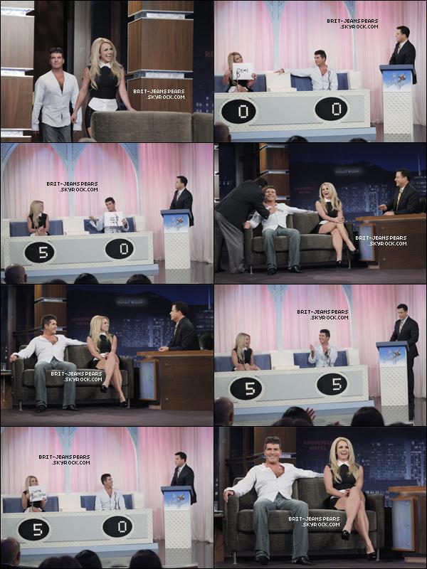 """. Britney et Simon étaient sur le plateau du """"Jimmy Kimmel Live Show"""", le 12 septembre. ."""
