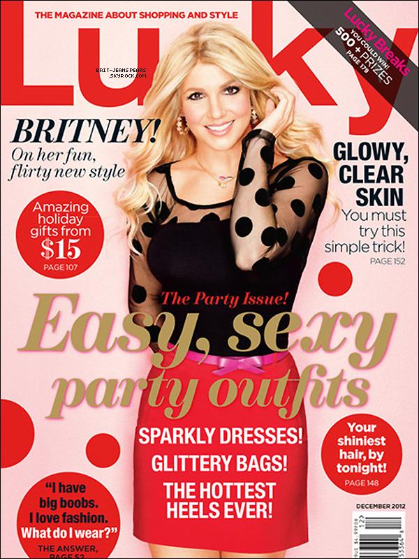 """. Découvre Britney en couverture du magazine """"Lucky"""" du mois de décembre ! ."""