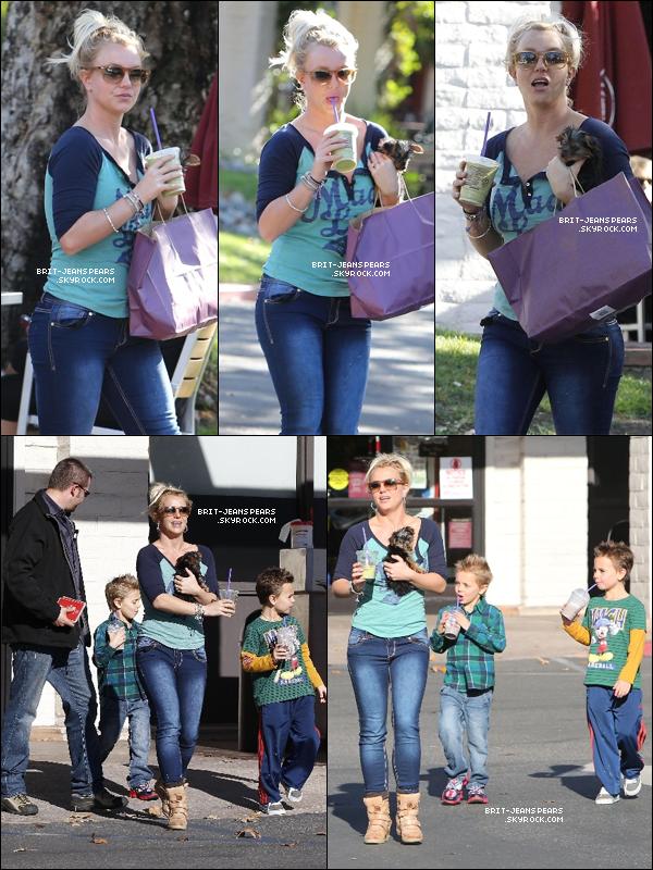 . Britney et ses fils ont été vus se promenant dans Thousand Oaks, le 18 novembre. .