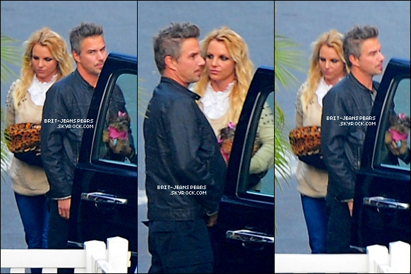 . Britney et Jason arrivaient sur le plateau de X Factor, le 06 décembre. .