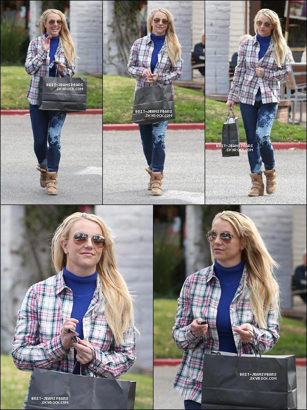 . Britney a été vue alors qu'elle faisait un peu de shopping à Calabasas, le 09 février. .