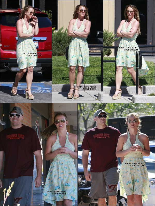 . Britney et David ont été vus allant déjeuner chez Cisco's à Camarillo, le 14 mars. .