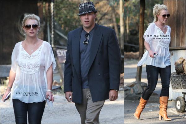 . Britney et David ont petit-déjeuné et fait du shopping à Calabasas, le 25 avril. .