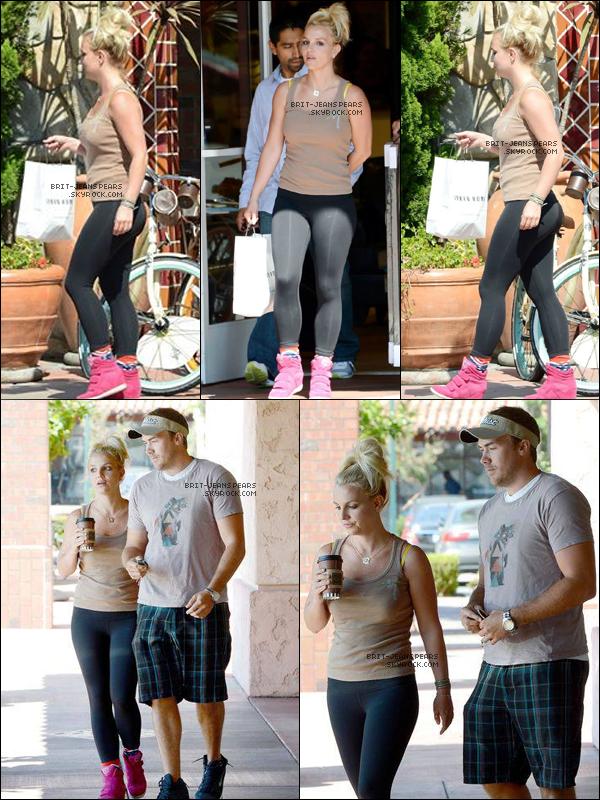 . Britney et David ont été vus faisant du shopping à Thousand Oaks, le 18 juillet. .