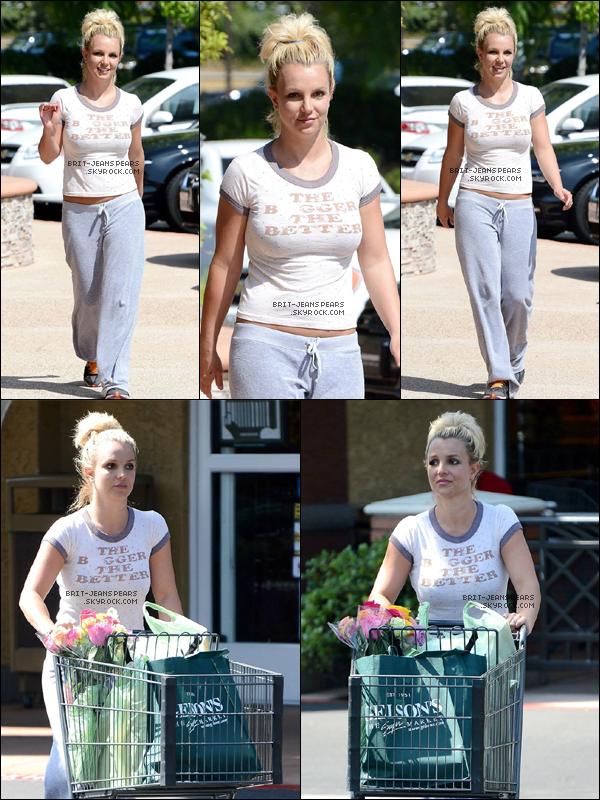 . Britney a été vue faisant des courses au magasin Gelson à Thousand Oaks, le 01 août. .