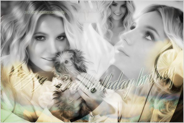 . Happy 32nd birthday to our queen, our Britney Jean ! We love u so much ♥ .