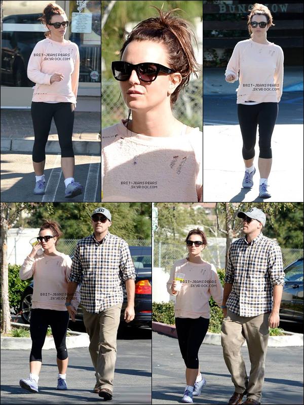 . Britney a été aperçue quittant une salle de gym' de Los Angeles, le 10 février. .