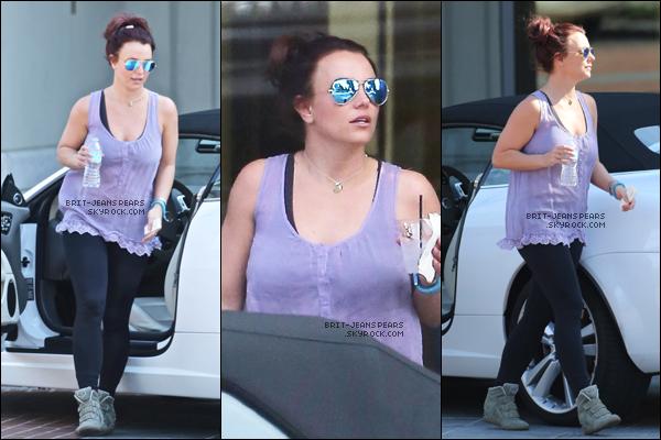 . Britney a été repérée alors qu'elle se rendait à la salle de sport, le 25 février. .