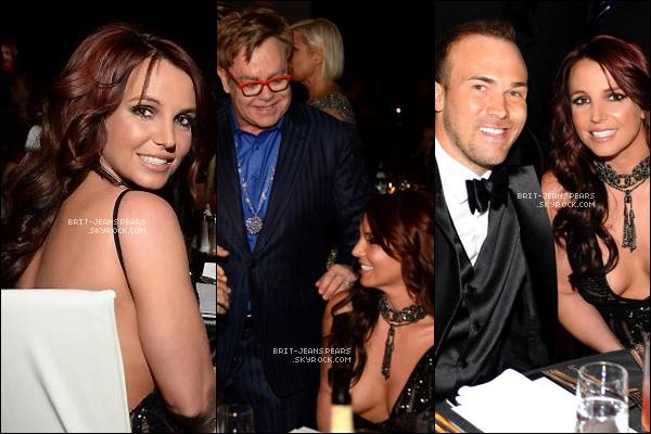 . Brit' et David étaient à la soirée organisée pour l'association de Elton John, le 02 mars. .