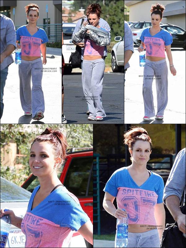 . Britney a été vue quittant une salle de gym' de Westlake Village, le 12 mars. .