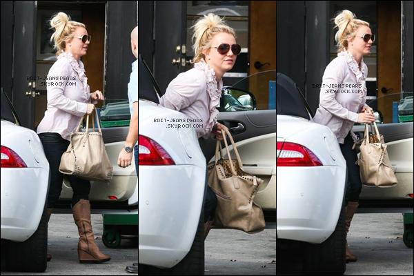 . Britney a été vue arrivant dans un studio de danse à Sherman Oaks, le 24 octobre. .