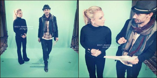 . Britney était en tournage d'un spot TV commercial pour NRJ à Londres, le 14 octobre. .