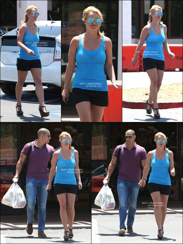 . Britney a été vue faisant du shopping dans une épicerie à Calabasas, le 25 juin. .