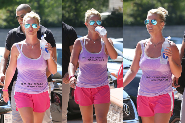 . Britney a été vue alors qu'elle se rendait à son cours de gymnastique, le 13 juillet. .
